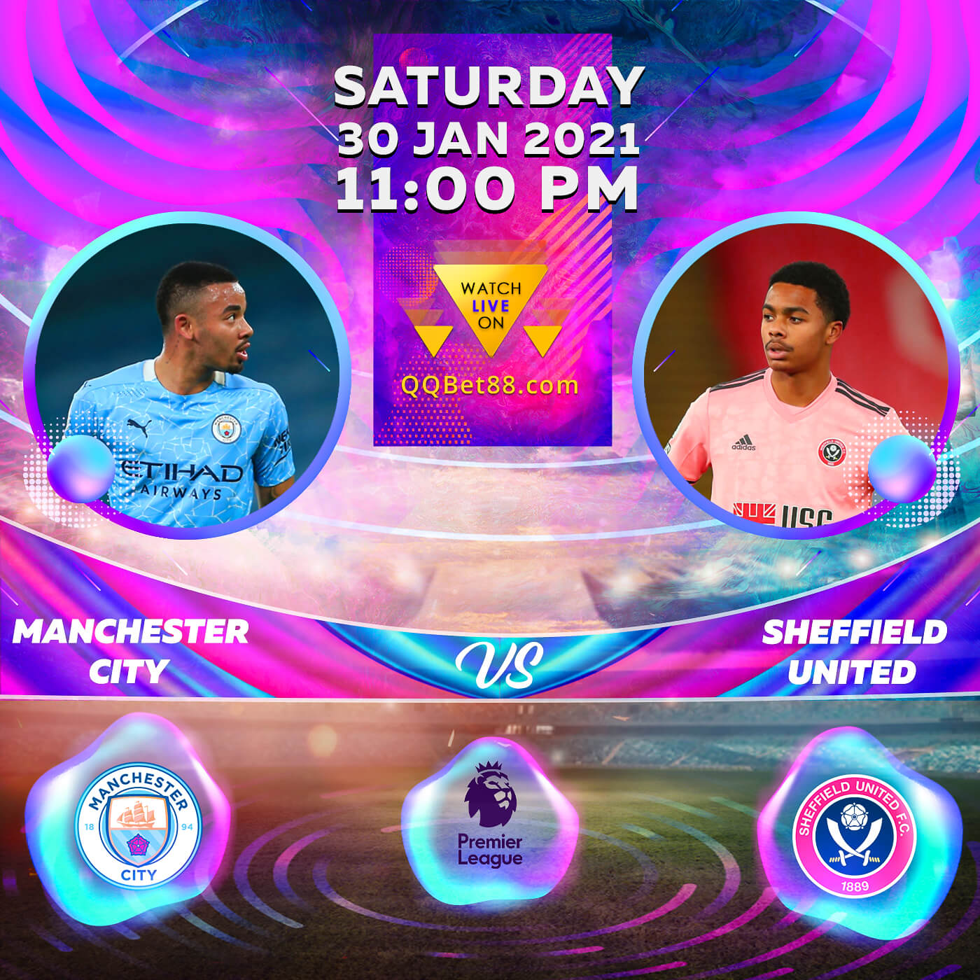 Manchester City VS Sheffield United